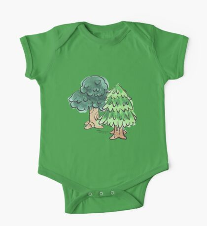 Animal Crossing inspired Trees One Piece - Short Sleeve
