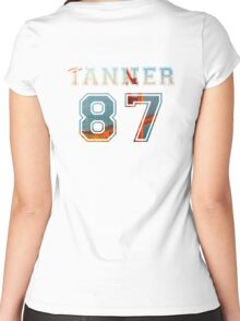 Tanner Varsity Women's Fitted Scoop T-Shirt