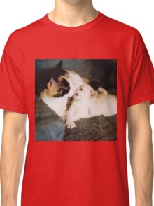 CALICO CAT AND WHITE KITTY Classic T-Shirt