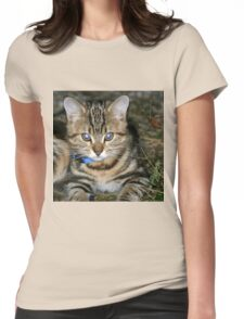 BLUE-EYED KITTY Womens Fitted T-Shirt