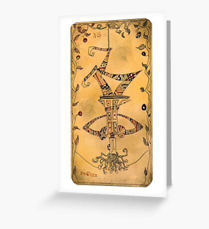 The Hanged Man - Major Arcana Greeting Card