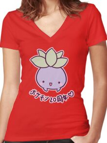 Oddish You Cute Women's Fitted V-Neck T-Shirt