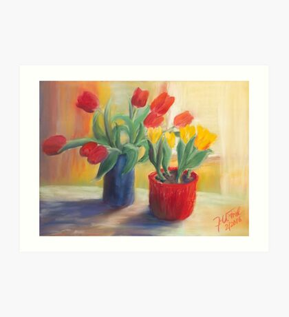 longing for spring - tulip Art Print