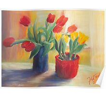longing for spring - tulip Poster