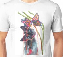 Cat and Butterfly Unisex T-Shirt