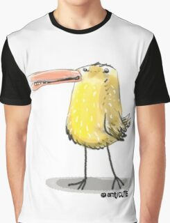 yellow chick cartoon style illustrated Graphic T-Shirt