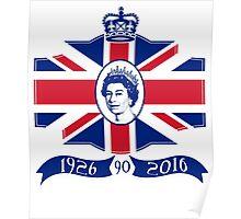 Queen Elizabeth 90th Birthday Poster