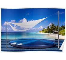 Luxury resort in the Maldives Poster