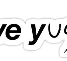 I LOVE Y...ugioh Sticker