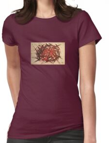 RAW 2 : red Womens Fitted T-Shirt