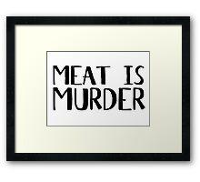 Vegetarian Meat Is Murder Vege Green  Framed Print