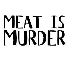 Vegetarian Meat Is Murder Vege Green  Photographic Print