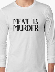Vegetarian Meat Is Murder Vege Green  Long Sleeve T-Shirt