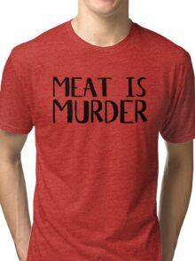 Vegetarian Meat Is Murder Vege Green  Tri-blend T-Shirt