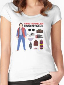 Back to the Future : Time Traveler Essentials 1985 Women's Fitted Scoop T-Shirt