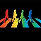 The Beatles Abbey Road Rainbow by emilyosman