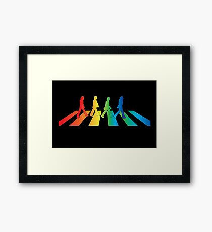 The Beatles Abbey Road Rainbow Framed Print