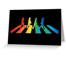 The Beatles Abbey Road Rainbow Greeting Card