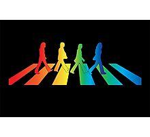 The Beatles Abbey Road Rainbow Photographic Print