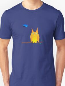 Owl and Butterfly Unisex T-Shirt