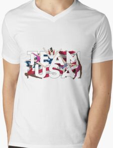 TEAM USA Mens V-Neck T-Shirt