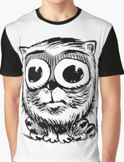 big eyes small black and white cat Graphic T-Shirt