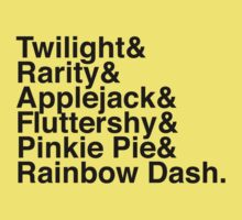 Twilight & Rarity & Applejack & Fluttershy & Pinkie Pie & Rainbow Dash. (My Little Pony) One Piece - Short Sleeve