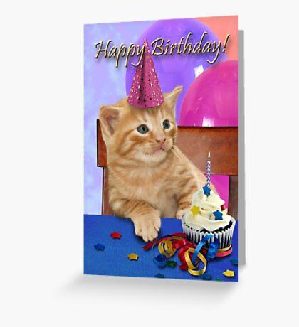 Birthday Tabby Kitten Greeting Card
