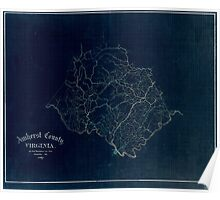 120 Amherst County Virginia Inverted Poster