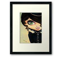 Victorian Gothic - Vampire Girl Framed Print