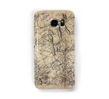 029  Map of parts of Fauquier Prince William and Rappahannock counties Va Samsung Galaxy Case/Skin