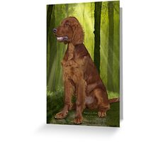 Waiting for his Master - Irish Setter Greeting Card