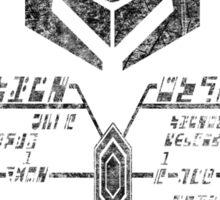 Star Trek - Ferengi Oval Badge - Black Dirty Sticker