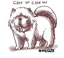 chowchow dog cartoon style illustrated Photographic Print