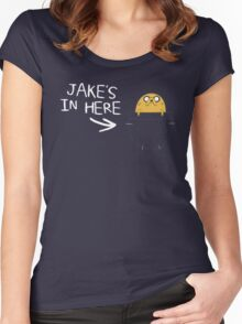 Jake in the Pocket 2 Women's Fitted Scoop T-Shirt