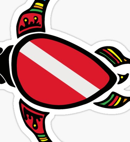 Diver Down Turtle Sticker