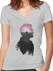 True Detective 'Cohle' Tee (no title) Women's Fitted V-Neck T-Shirt