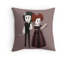 Sweeney Todd & Mrs. Lovett Throw Pillow