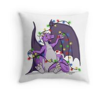 colored lights dragon Throw Pillow