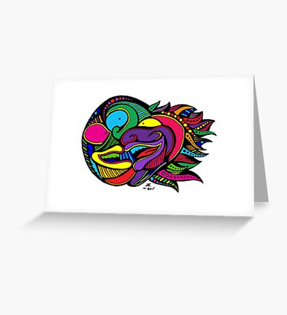 Colored Doodle Two-Face Greeting Card