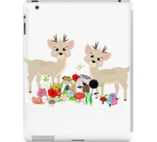 Cute Whimsical Woodland Animals Scene iPad Case/Skin