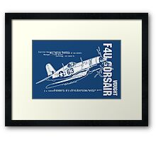F4U Corsair Fighter Bomber Framed Print