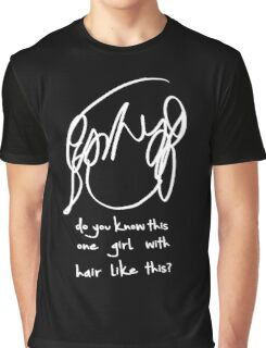 ♥♥♥ SCOTT PILGRIM RAMONA FLOWERS - DO YOU KNOW THIS ONE GIRL WITH HAIR LIKE THIS? WHITE VERSION ♥♥♥ Graphic T-Shirt