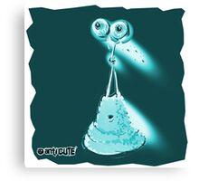 jelly alien cartoon style blue Canvas Print