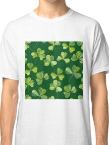 Clover. Green pattern Classic T-Shirt