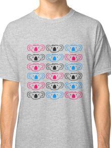 party pattern design colorful pink many blue dj music shirt koala heads cool Classic T-Shirt