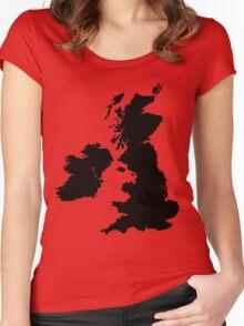 Werewolf map Women's Fitted Scoop T-Shirt