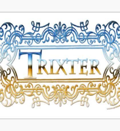 Trixter (Blue-Gold) Sticker