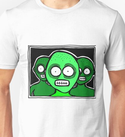 Three Chilling Grins GREEN THEME Unisex T-Shirt