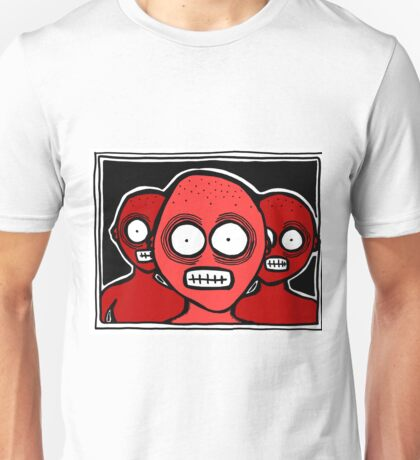 Three Chilling Grins RED THEME Unisex T-Shirt